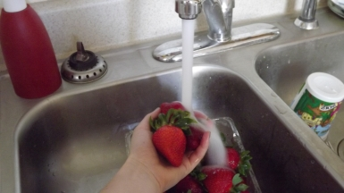 you always have to wash the berries!