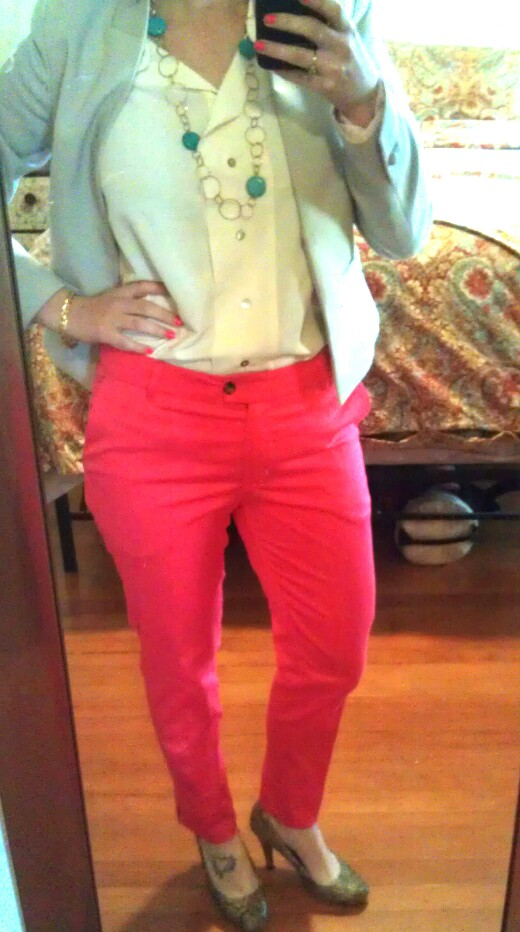 full outfit - shirt, pants and blazer from h&m; shoes from target